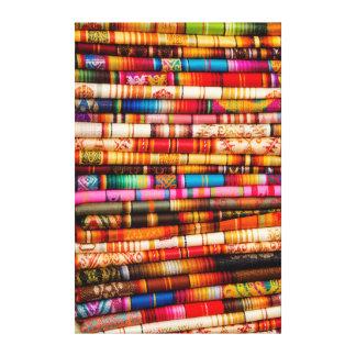 Ecuador, Quito Area, Otavalo Handicraft Market Canvas Print