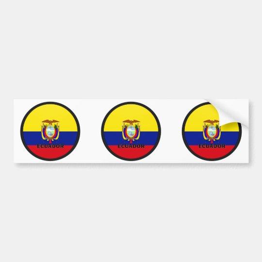 Ecuador Roundel quality Flag Bumper Sticker