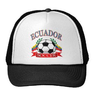 Ecuador soccer ball designs trucker hats