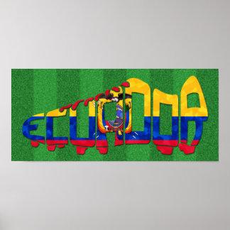 Ecuador Soccer Football Boot Poster