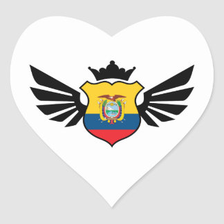 Ecuador soccer heart sticker