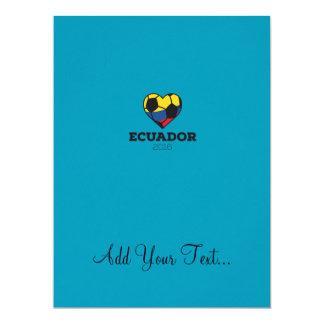 Ecuador Soccer Shirt 2016 17 Cm X 22 Cm Invitation Card