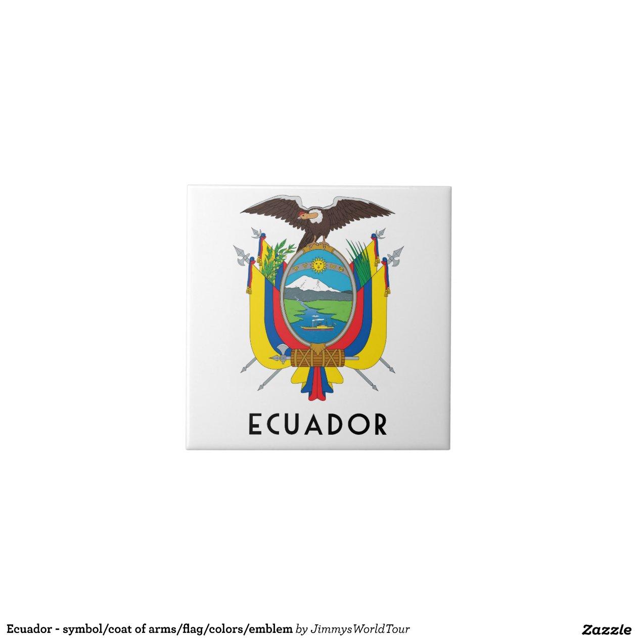 Ecuador Symbol Coat Of Arms Flag Colours Emblem Zazzle