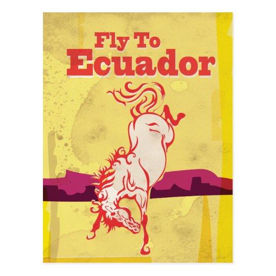 Ecuador Vintage Travel Poster Postcard