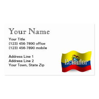 Ecuador Waving Flag Pack Of Standard Business Cards