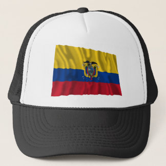 Ecuador Waving Flag Trucker Hat