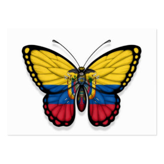 Ecuadorian Butterfly Flag Pack Of Chubby Business Cards