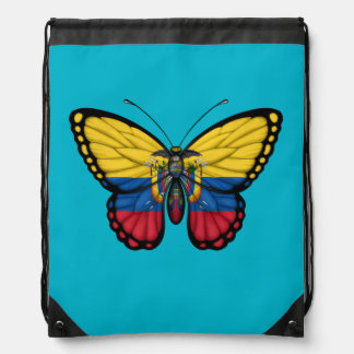 Ecuadorian Butterfly Flag Cinch Bag
