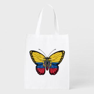 Ecuadorian Butterfly Flag Grocery Bags