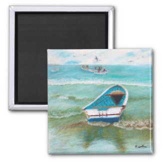 Ecuadorian fishing boats magnet