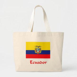 Ecuadorian Flag Canvas Bag