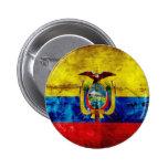 Ecuadorian Flag Buttons