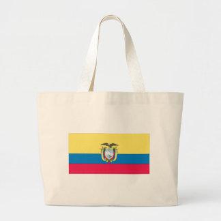 Ecuadorian Flag Jumbo Tote Bag