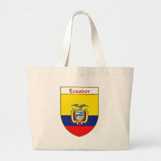 Ecuadorian Flag Shield Jumbo Tote Bag