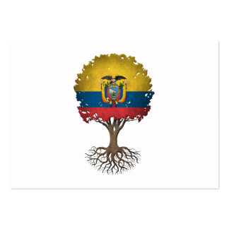 Ecuadorian Flag Tree of Life Customizable Pack Of Chubby Business Cards