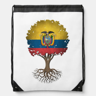 Ecuadorian Flag Tree of Life Customizable Cinch Bags