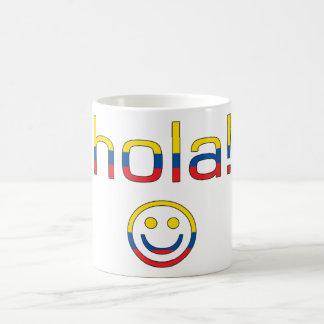 Ecuadorian Gifts : Hello / Hola + Smiley Face Basic White Mug