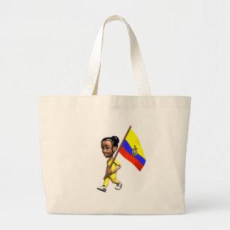 Ecuadorian Girl Tote Bags
