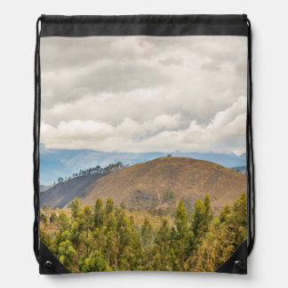 Ecuadorian Landscape at Chimborazo Province Drawstring Backpacks
