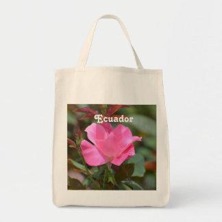 Ecuadorian Rose Grocery Tote Bag