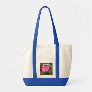 Ecuadorian Rose Impulse Tote Bag