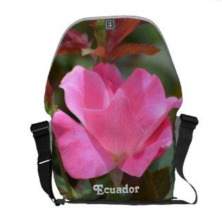 Ecuadorian Rose Messenger Bag