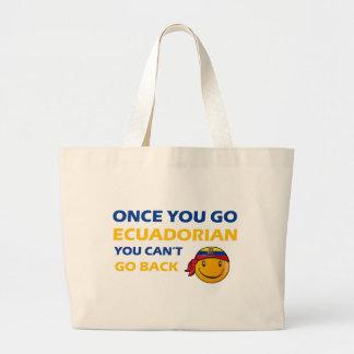 Ecuadorian smiley designs tote bag