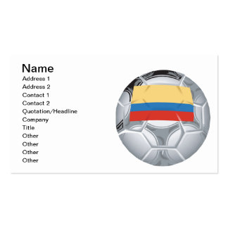 Ecuadorian Soccer Ball Pack Of Standard Business Cards