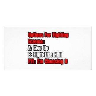 Eczema Fighting Options Personalized Photo Card