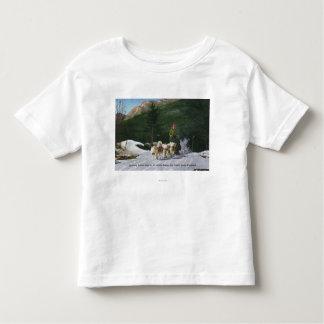 Ed Clark's Eskimo Dog Ranch, Dogsledding Toddler T-Shirt