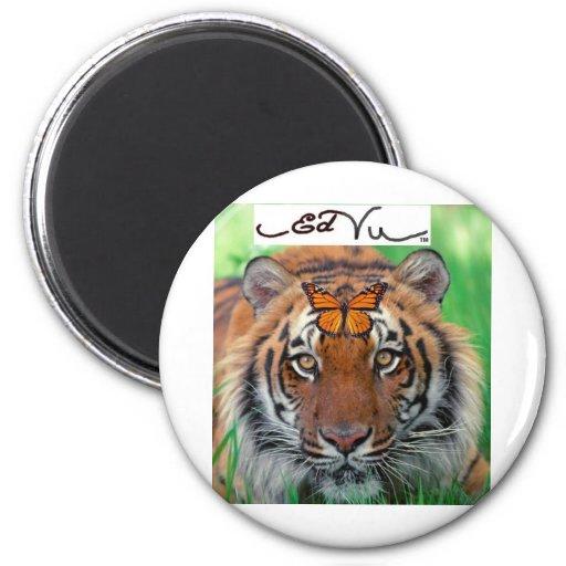 Ed Vu Tiger Monarch butterfly Fridge Magnet