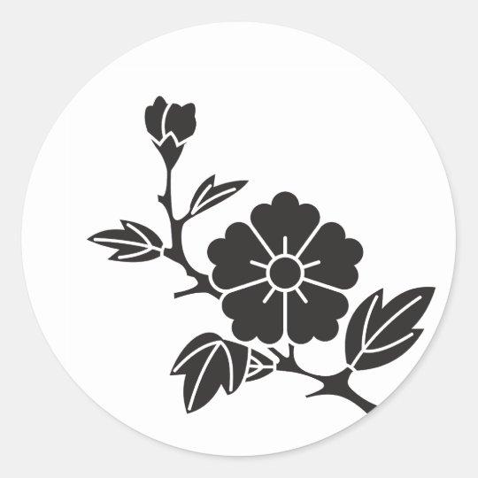 Edakarabana 枝唐花紋 chinese flower classic round sticker