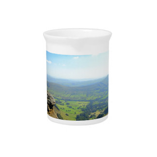 Edale valley and rocks pitcher