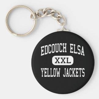 Edcouch Elsa - Yellow Jackets - High - Edcouch Basic Round Button Key Ring