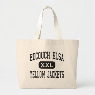 Edcouch Elsa - Yellow Jackets - High - Edcouch Jumbo Tote Bag