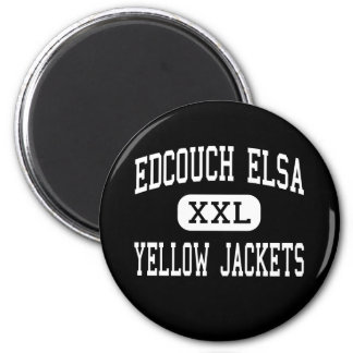 Edcouch Elsa - Yellow Jackets - High - Edcouch 6 Cm Round Magnet