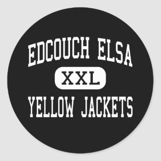 Edcouch Elsa - Yellow Jackets - High - Edcouch Stickers