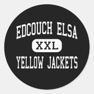 Edcouch Elsa - Yellow Jackets - High - Edcouch Classic Round Sticker