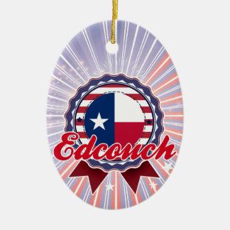 Edcouch, TX Ceramic Oval Decoration