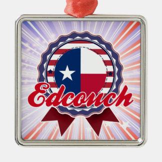 Edcouch, TX Silver-Colored Square Decoration