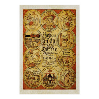 Edda Norse Scandinvian Mythology Poster