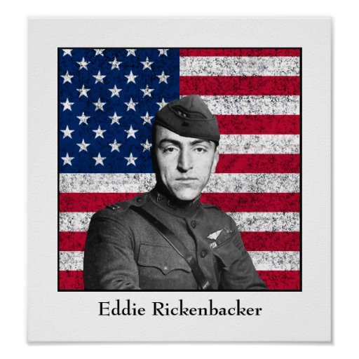 Eddie Rickenbacker and The Flag Posters
