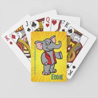 Eddie the Elephant Playing Cards