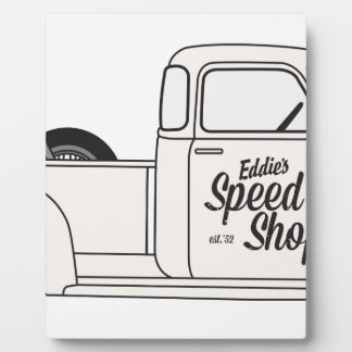 Eddies Speed Shop truck and bike Display Plaques
