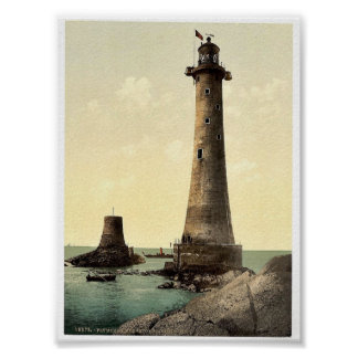 Eddystone Lighthouse, Plymouth, England classic Ph Poster