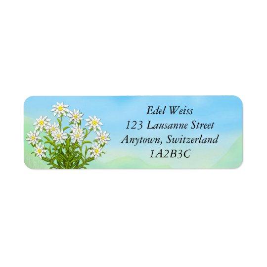 Edelweiss Alpine Flowers Labels