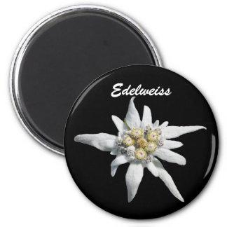 Edelweiss Flower Bloom 6 Cm Round Magnet