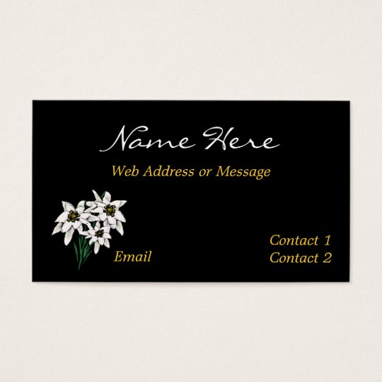 Edelweiss Flower Business / Calling Cards