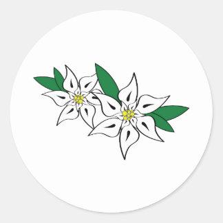 Edelweiss Round Sticker