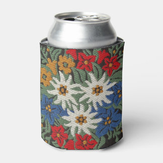 Edelweiss Swiss Alpine Flower Can Cooler